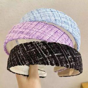 Tweed headband, women headband